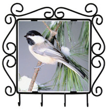 Chickadee Metal Key Holder