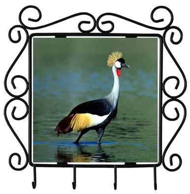 Crowned Crane Metal Key Holder
