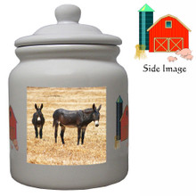 Donkey Ceramic Color Cookie Jar