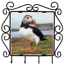 Atlantic Puffin Metal Key Holder