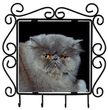 Persian Cat Metal Key Holder