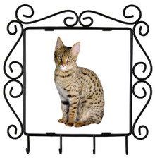 Savannah Cat Metal Key Holder