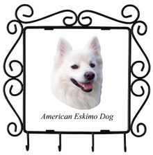 American Eskimo Dog Metal Key Holder