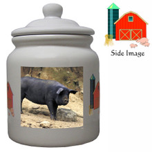 Pig Ceramic Color Cookie Jar