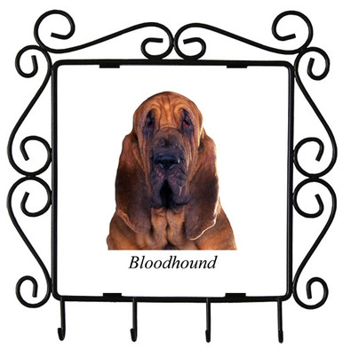 Bloodhound Metal Key Holder