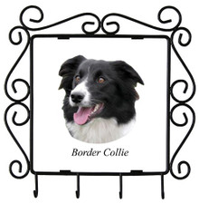 Border Collie Metal Key Holder