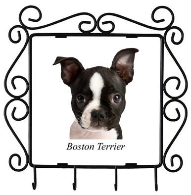 Boston Terrier Metal Key Holder