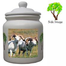 Big Horned Sheep Ceramic Color Cookie Jar