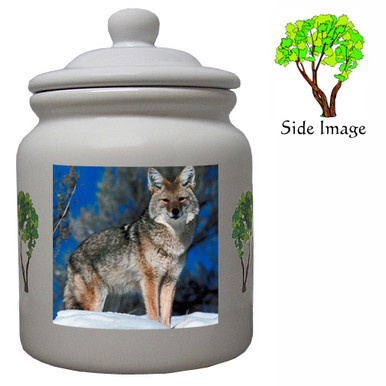 Coyote Ceramic Color Cookie Jar