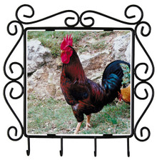 Rooster Metal Key Holder