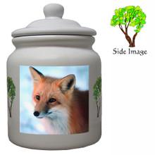 Fox Ceramic Color Cookie Jar