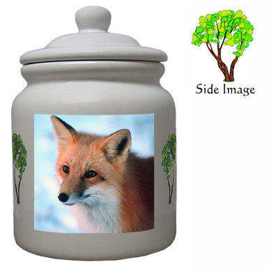 Fox Ceramic Color Cookie Jar