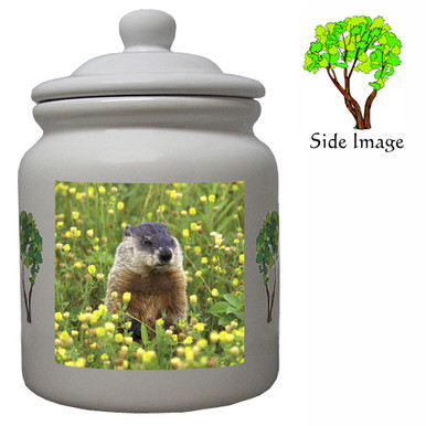 Groundhog Ceramic Color Cookie Jar