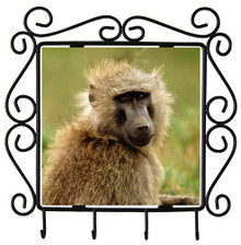 Baboon Metal Key Holder