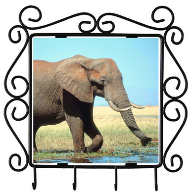 Elephant Metal Key Holder