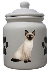 Siamese Cat Ceramic Color Cookie Jar