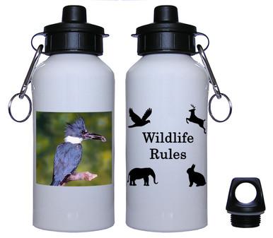 Belted Kingfisher Aluminum Water Bottle