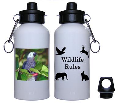 African Grey Parrot Aluminum Water Bottle