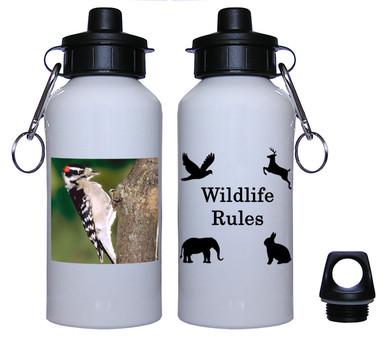Downey Woodpecker Aluminum Water Bottle
