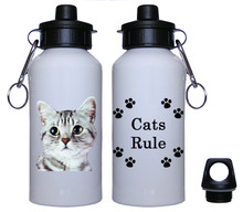 American Shorthair Cat Aluminum Water Bottle