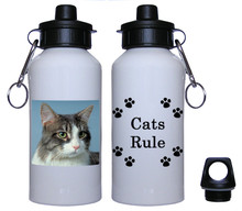 Cat Aluminum Water Bottle