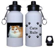 Persian Cat Aluminum Water Bottle