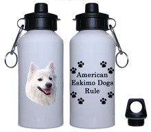 American Eskimo Dog Aluminum Water Bottle