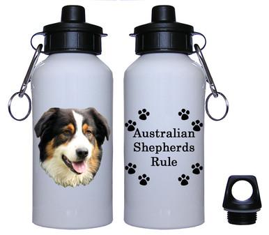 Australian Shepherd Aluminum Water Bottle