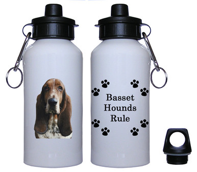 Basset Hound Aluminum Water Bottle