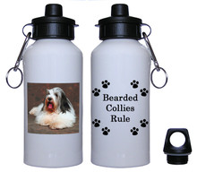 Bearded Collie Aluminum Water Bottle