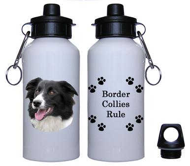 Border Collie Aluminum Water Bottle