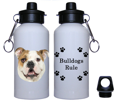 Bulldog Aluminum Water Bottle