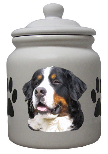 Bernese Mountain Dog Ceramic Color Cookie Jar