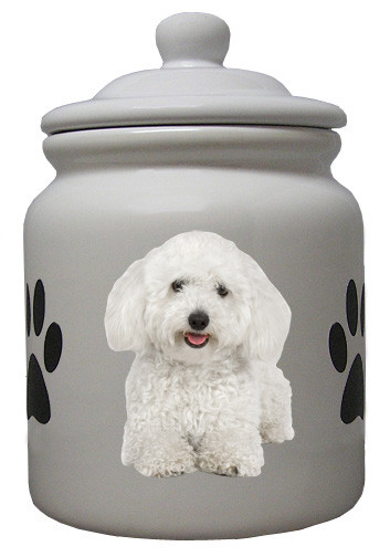 Bichon Ceramic Color Cookie Jar