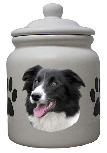 Border Collie Ceramic Color Cookie Jar