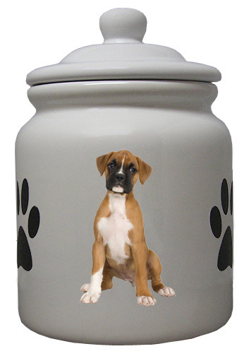 Boxer Ceramic Color Cookie Jar