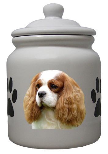 Cavalier King Charles Ceramic Color Cookie Jar