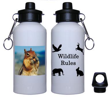 Chipmunk Aluminum Water Bottle