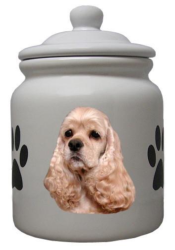 Cocker Spaniel Ceramic Color Cookie Jar