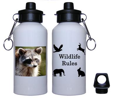 Raccoon Aluminum Water Bottle