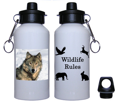 Wolf Aluminum Water Bottle