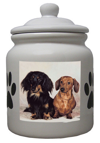 Dachshund Ceramic Color Cookie Jar