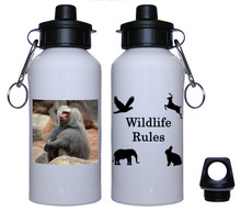 Baboon Aluminum Water Bottle