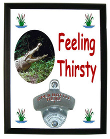 Crocodile Feeling Thirsty Bottle Opener Plaque