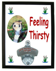Cobra Snake Feeling Thirsty Bottle Opener Plaque