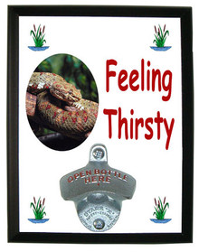 Viper Snake Feeling Thirsty Bottle Opener Plaque