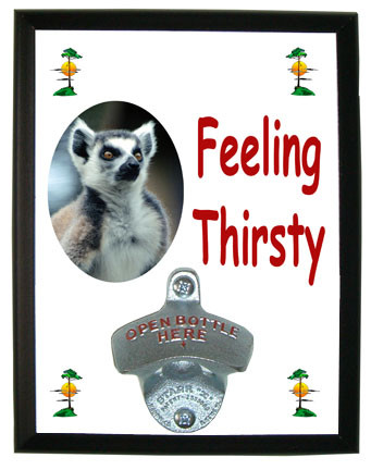 Monkey Feeling Thirsty Bottle Opener Plaque