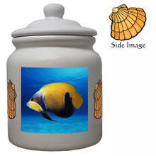 Blue Girdled Angelfish Ceramic Color Cookie Jar