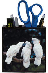 Cockatoo Wooden Pencil Holder