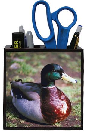 Duck Wooden Pencil Holder